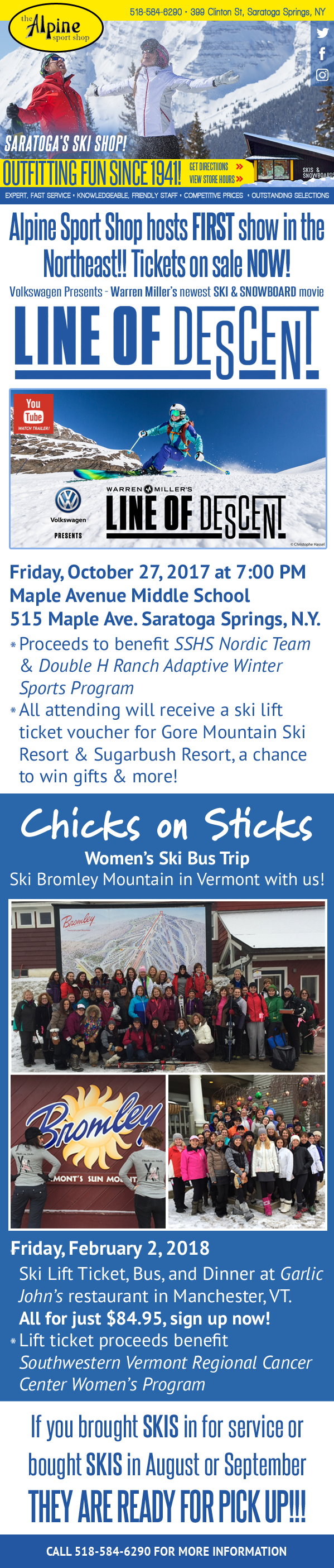 FREE SKI Lift Ticket Vouchers at Warren Miller Movie on Oct. 27